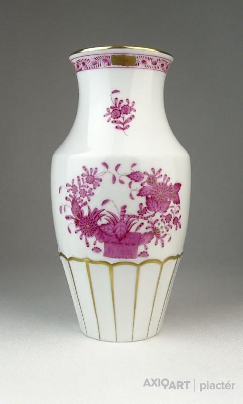 Indiai kosaras Herendi porcelán váza 19.5 cm 8f96ea9630