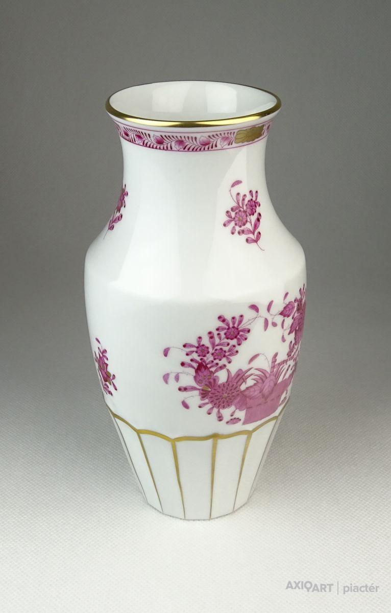 Indiai kosaras Herendi porcelán váza 19.5 cm. Previous  Next 4f38be2993