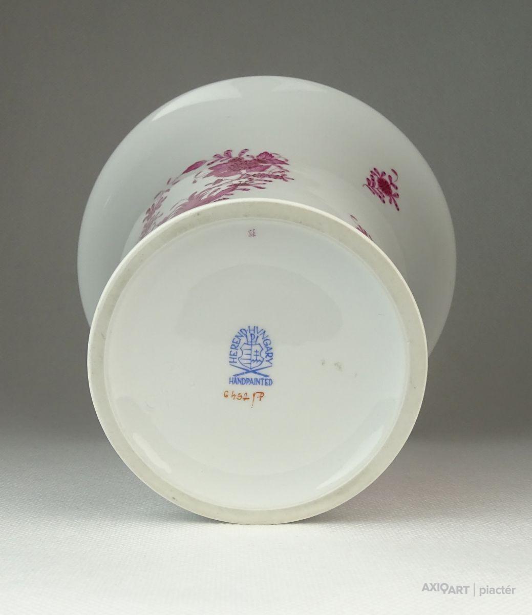 Lila indiai kosaras Herendi porcelán váza. Previous  Next 9f3a9a71ac